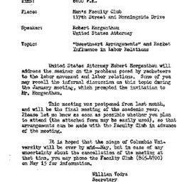 Announcements, 1968-05-15. ...