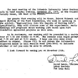 Announcements, 1975-11-06. ...