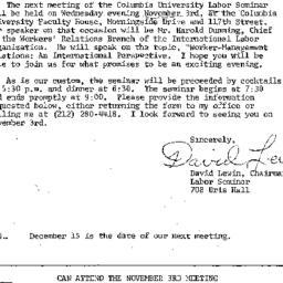 Announcements, 1976-10-20. ...