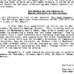 Announcements, 1985-04-04. ...
