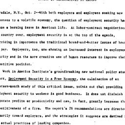 Handouts, 1984-11-02. Labor...