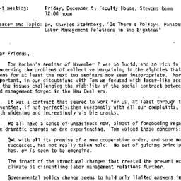 Announcements, 1986-12-05. ...