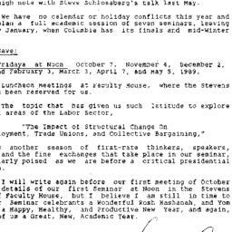 Announcements, 1988-09-06. ...