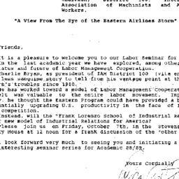 Announcements, 1988-09-29. ...