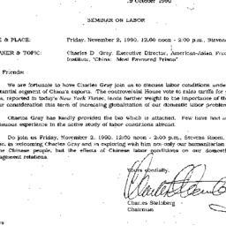 Announcements, 1990-10-19. ...