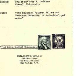 Announcements, 1963-01-22. ...