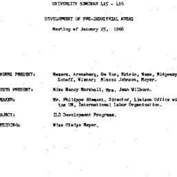 Minutes, 1966-01-25. Develo...