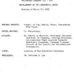 Minutes, 1966-03-29. Develo...