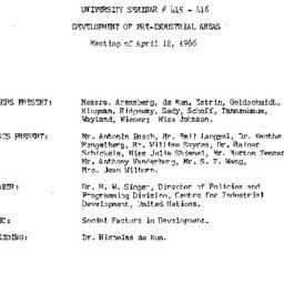 Minutes, 1966-04-12. Develo...