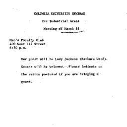 Announcements, 1969-03-11. ...