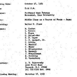 Minutes, 1969-10-28. Develo...