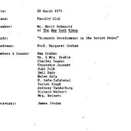 Minutes, 1972-03-28. Develo...