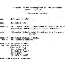 Minutes, 1973-02-08. Develo...