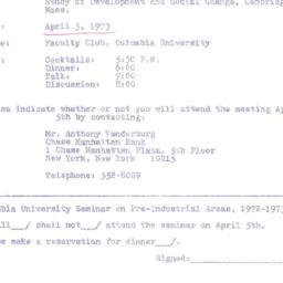 Announcements, 1973-04-05. ...