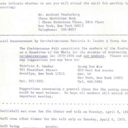 Announcements, 1975-04-08. ...
