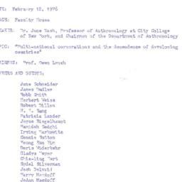 Minutes, 1976-02-12. Develo...