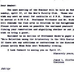Announcements, 1963-04-17. ...