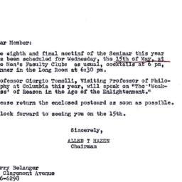 Announcements, 1968-05-06. ...