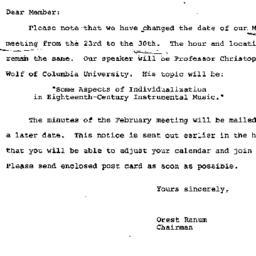 Announcements, 1972-03-01. ...