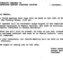 Announcements, 1978-12-01. ...