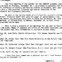 Minutes, 1986-09-18. Eighte...