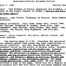 Minutes, 1988-04-17. Eighte...