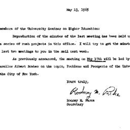 Announcements, 1965-05-13. ...