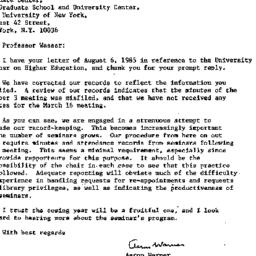 Correspondence, 1986-08-12....
