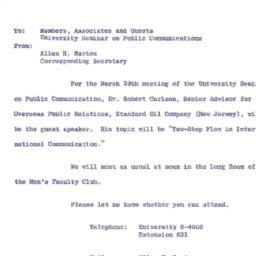 Announcements, 1963-03-29. ...