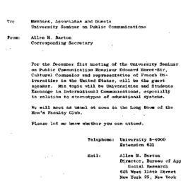 Announcements, 1962-12-21. ...