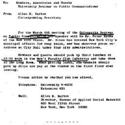 Announcements, 1966-02-25. ...