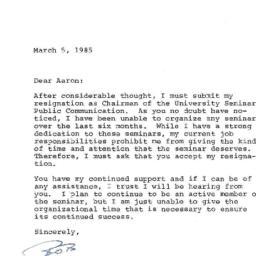 Correspondence, 1985-03-05....