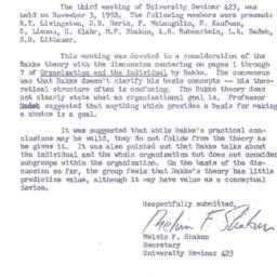 Minutes, 1952-11-03. Organi...