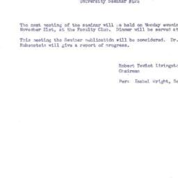 Announcements, 1955-11-21. ...
