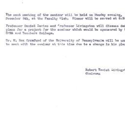 Announcements, 1955-12-05. ...