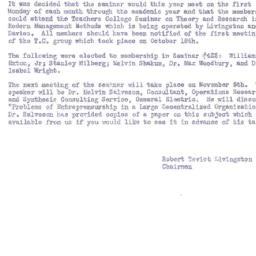 Announcements, 1956-11-05. ...