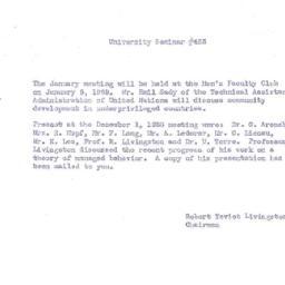 Announcements, 1959-01-05. ...