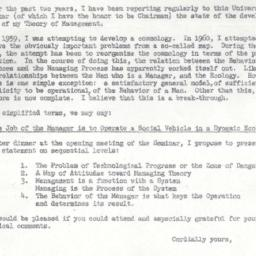 Announcements, 1961-09-15. ...