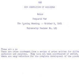 Speaker's paper, 1961-10-09...