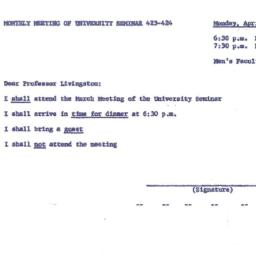Announcements, 1962-04-09. ...