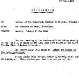 Announcements, 1965-04-29. ...