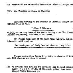 Announcements, 1966-02-04. ...