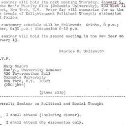 Announcements, 1968-12-29. ...