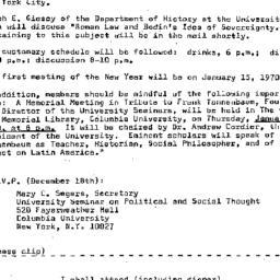 Announcements, 1969-12-02. ...