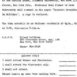 Announcements, 1973-01-10. ...