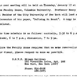Announcements, 1974-01-10. ...