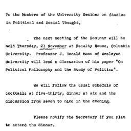 Announcements, 1974-11-21. ...