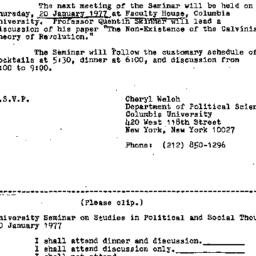 Announcements, 1976-12-17. ...