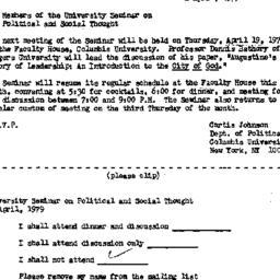Announcements, 1979-04-02. ...