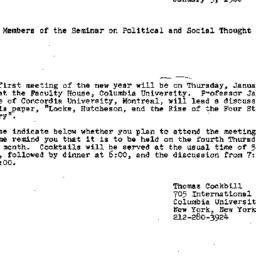 Announcements, 1980-01-09. ...